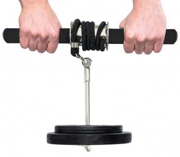 Best Sporting Wrist Roller Unterarmtrainer inklusive Hantelscheibe und Übungsanleitung