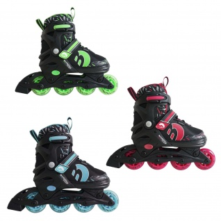 Best Sporting Inline Skates Kinder, verstellbar, ABEC 7, grün, türkisblau oder pink