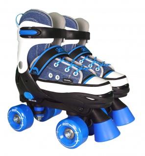 Best Sporting Rollschuhe für Kinder und Jugendliche, Größe verstellbar, ABEC 7 Carbon, blau-weiß