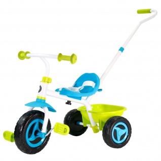 Best Sporting Dreirad 2 IN 1 für Kinder 18-36 Monate, abnehmbare Schubstange