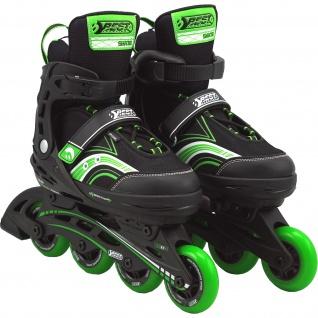 Best Sporting Inline Skates Größe verstellbar, ABEC 5 Carbon grün