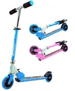 Best Sporting Scooter 125er Rolle, Tretroller für Kinder, klappbar Farbe pink oder blau
