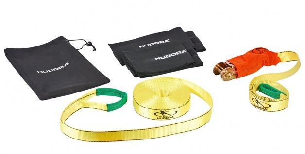 HUDORA Slackline Set mit Baumschutz - Balancierseil