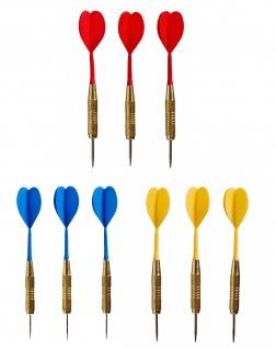 Best Sporting Dartpfeilset Torpedo, 3 Stück à 20 g, Dartspitze Messing, blau, rot oder gelb