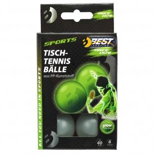 Best Sporting Tischtennisbälle, 6 St, Funbälle Spaßbälle glow in the dark