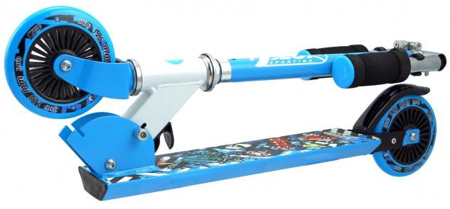 Best Sporting Scooter 125er Rolle, Tretroller für Kinder, klappbar Farbe pink oder blau - Vorschau 3