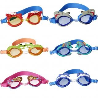 Best Sporting Kinder Schwimmbrille UV-Schutz Antibeschlag Silikonkopfband verschiedene Designs