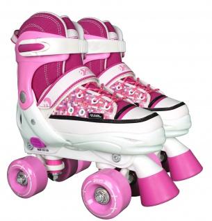 Best Sporting Rollschuhe, Größe verstellbar, ABEC 7 Carbon, pink-weiß