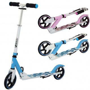 Best Sporting Scooter 180er Rolle, Aluminium Kinder-Roller, klappbar blau oder pink