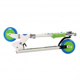 Best Sporting Scooter 125er Rolle, Tretroller für Kinder, klappbar, Farbe weiß/blau oder schwarz/orange - Vorschau 3