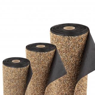 Steinfolie 4m x 0, 4m breit Für Teichrand Bachlauf Teichfolie Teich Sandfarben