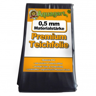 Teichfolie PVC 4m x 4m 0, 5mm schwarz Folie für den Gartenteich