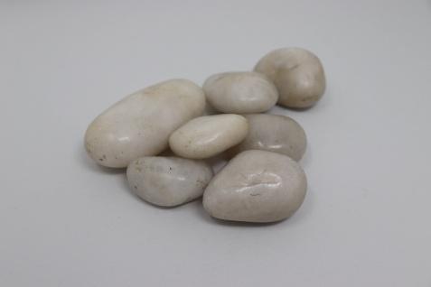 120kg Polierter Kiesel Flusskiesel Kieselsteine Gartenkies Zierkies weiß