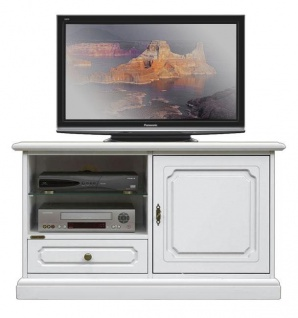 TV-Schrank weiß 1 Tür 1 Schublade