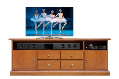 Schrank TV für Soundbar glatt