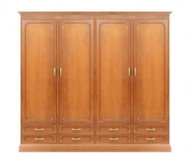 Schrank 4 Türen 8 Schubladen Klassisch