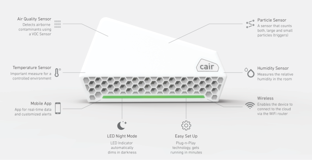 Nuwave Cair - Der smarte Luftqualitätsmonitor - Vorschau 3