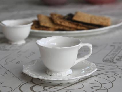 Chic Antique Provence Kaffeetasse m. Untertasse