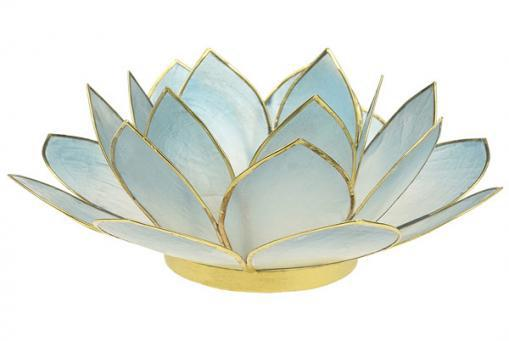Lotus Teelichthalter SKY 14cm, Capiz