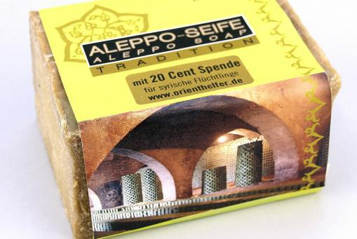 Seife aus Aleppo, 92% Olive, 8% Lorbeer, 200g