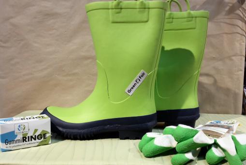 """""""Green&Fair"""" ist der Name für Produkte aus fair gehandeltem und FSC® zertifiziertem Naturkautschuk."""