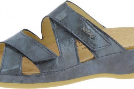 06303. Damenpantolette von Vital. Herausnehbares Fußbett.