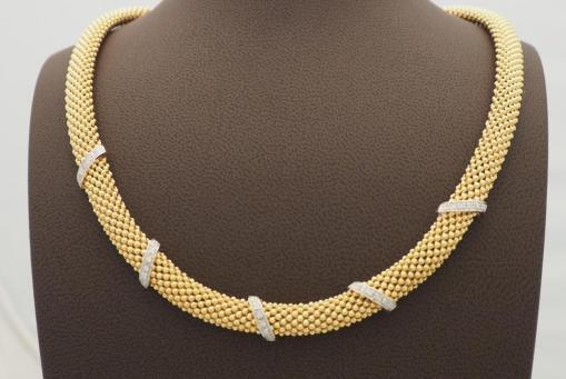 Collier Silber vergoldet