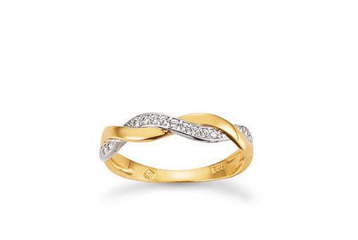 Ring 585/000 mit Zirkonia