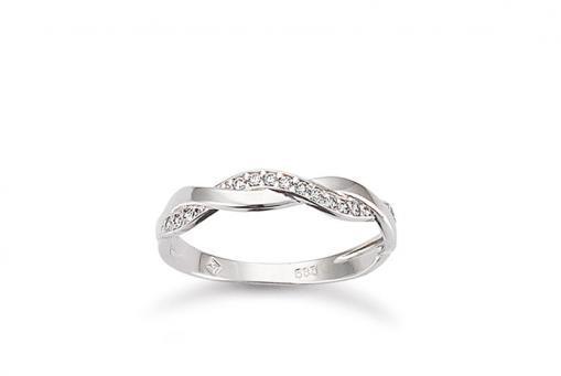 Ring 585/000 Weißgold mit Zirkonia