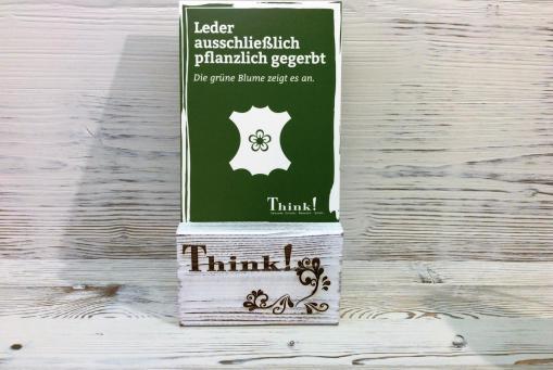 Think! Leder ausschließlich pflanzlich gegerbt