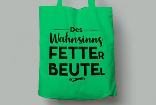 """Baumwolltasche """"Fette Beute"""""""