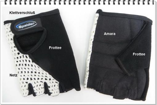 Handschuhe schwarz Strick/Frottee/Amara
