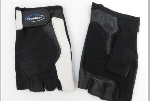 Lederhandschuh schwarz mit Atmungsaktivität