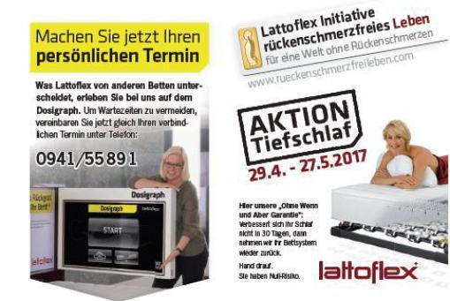 Lattoflex Aktion Tiefschlaf 29.04. bis 27.05.2017