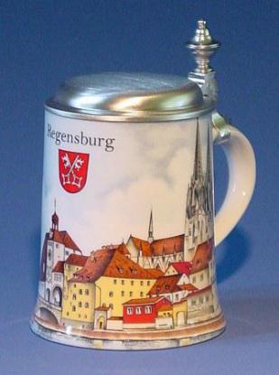 Porzellan Krug Regensburg