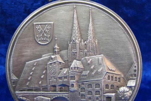 Zinn Plakette Regensburg 6cm