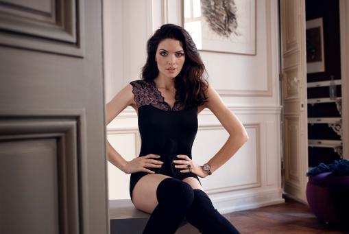 Simone Perele Hemd aus feinster Seide und Modal In den Sommerfarben Champagner und Anthrazit
