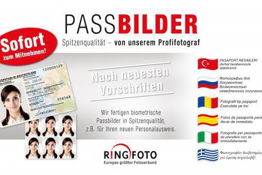 Passbilder sofort zum Mitnehmen ohne Termin