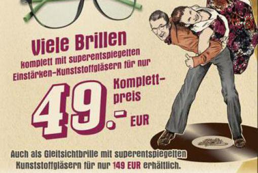 Scharfe Preise ab 10.1.18 Einstärkenbrillen komplett