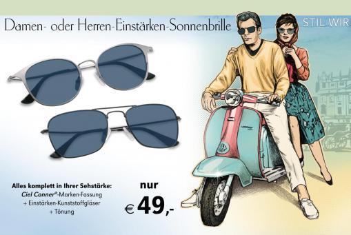 Einstärken-Sonnebrillen in Ihrer Glasstärke komplett