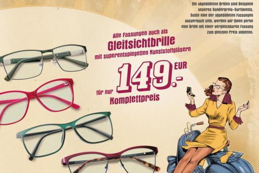 Scharfe Preise ab 10.1.18 Gleitsichtbrille komplett