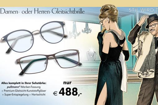Premium Gleitsichtbrille komplett inklusive Gläsern