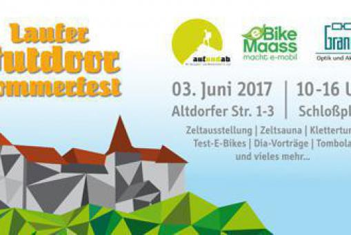 Laufer Outdoor Sommerfest am 3. Juni am Schlossplatz