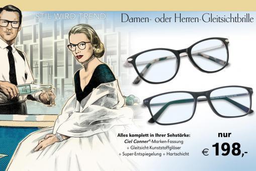 Gleitsichtbrille komplett inklusive Gläsern
