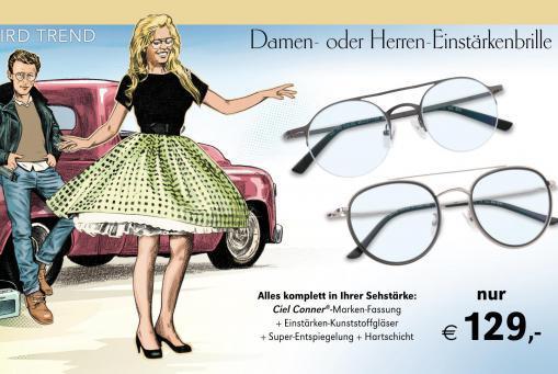 Einstärkenbrille komplett inklusive Gläser