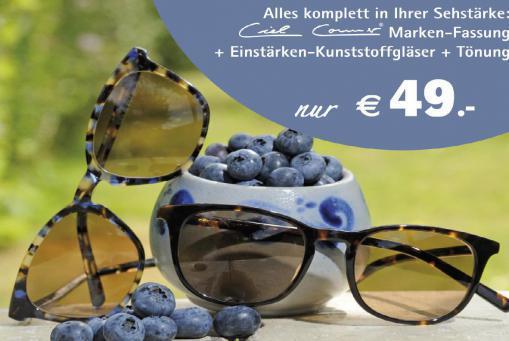 Damen- oder Herrensonnenbrille in Ihrer Glasstärke komplett