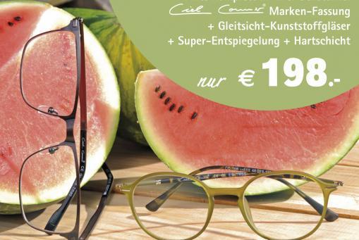 Damen- oder Herren-Gleitsichtbrille komplett