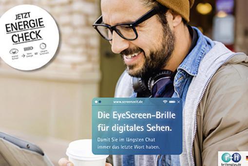 Eyescreen Brillengläser: mehr Energie für digitales Sehen