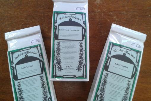 Arznei - Tees für die Bronchen, bei Erkältungen oder Reizhusten