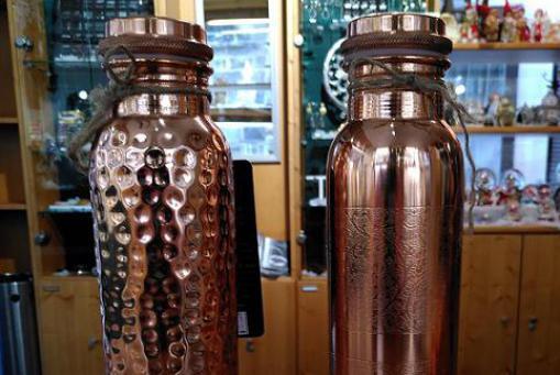 Kupferwasserflaschen - aus 99,7% reinem Kupfer